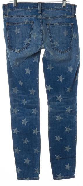 CURRENT ELLIOTT Blue White Stars The Stiletto Skinny Jeans