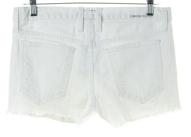 CURRENT ELLIOTT White The Boyfriend Short Sugar Denim Shorts