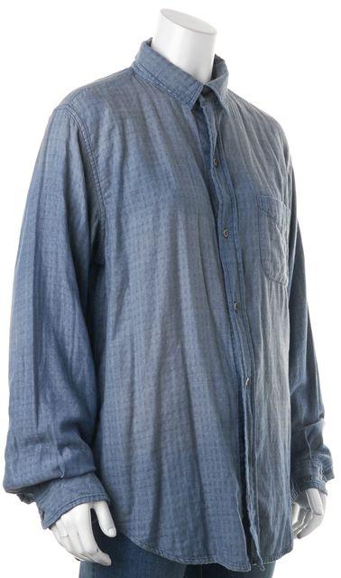 CURRENT ELLIOTT Blue Prep School Shirt Belmont Stripe Button Down Shirt