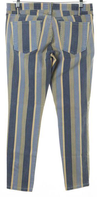 CURRENT ELLIOTT Blue Yellow Striped The Stiletto Moonbeam Skinny Jeans