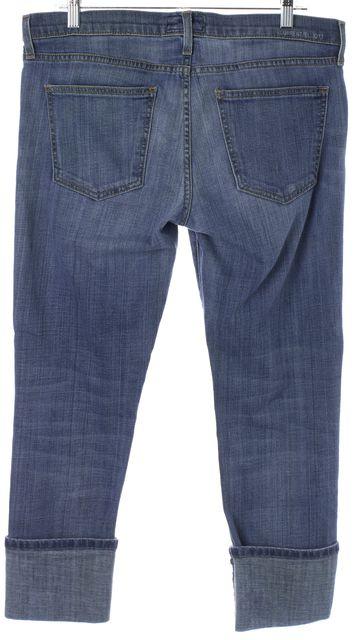 CURRENT ELLIOTT Blue The Beatnik Cuffed Capri Jeans
