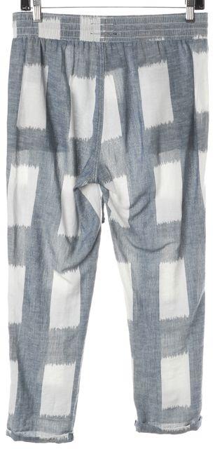 CURRENT ELLIOTT Blue Linen Draw String Lounge Trouser Tokyo Revival Pants