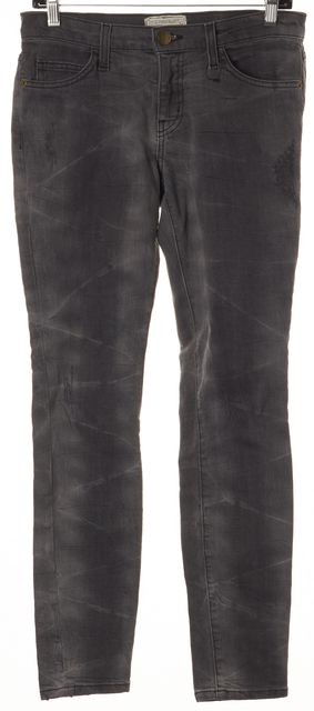 CURRENT ELLIOTT Gray Distressed The Ankle Skinny Skinny Jeans