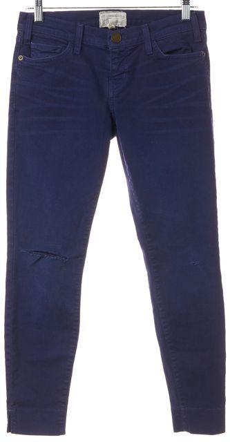 CURRENT ELLIOTT Blue Ribbon The Slit Stiletto Skinny Jeans
