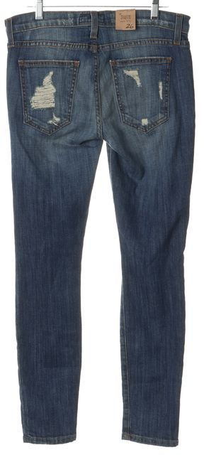 CURRENT ELLIOTT Jodie Blue Shredded Stiletto Skinny Jeans