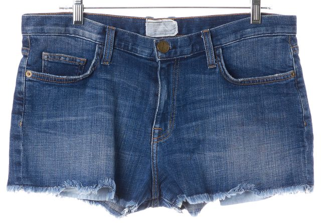 CURRENT ELLIOTT Blue Distressed Mini Short Shorts
