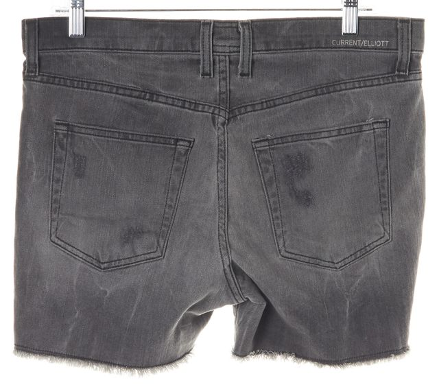 CURRENT ELLIOTT Night Destroy Gray Bleach Out Denim Shorts