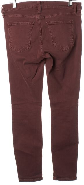 CURRENT ELLIOTT Burgundy Red Stretch Cotton Stiletto Skinny Jeans