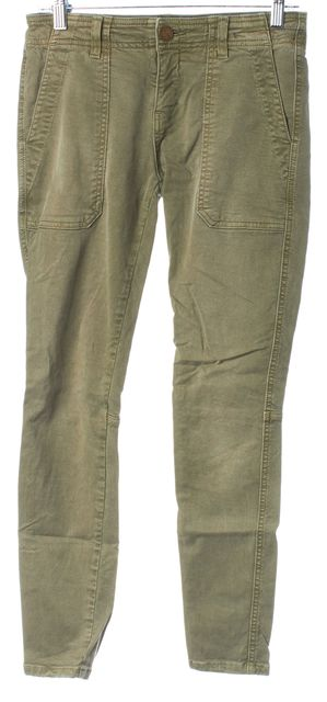 CURRENT ELLIOTT Army Green Stretch Cotton The Conductor Casual Pants