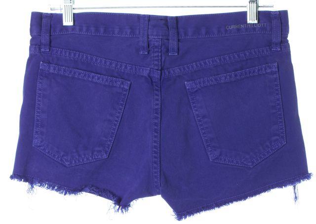 CURRENT ELLIOTT Electric Blue Denim Cut-Off Shorts