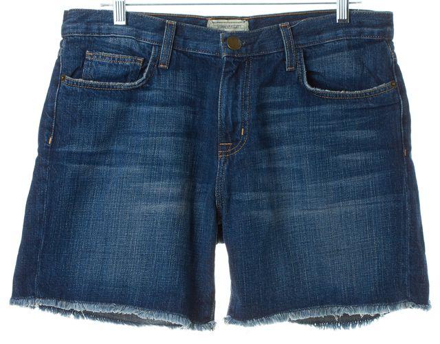 CURRENT ELLIOTT Loved Blue Cotton Boyfriend Roll Denim Shorts