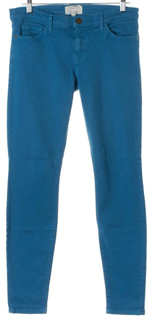 CURRENT ELLIOTT Blue Canteen The Ankle Skinny Jeans