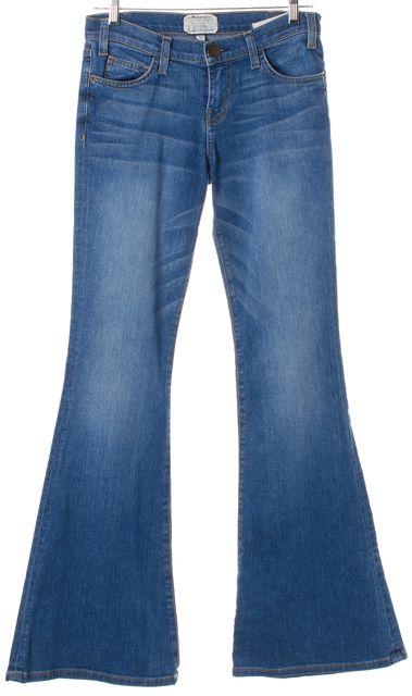 CURRENT ELLIOTT Blue Medium Wash The Bell Flare Jeans