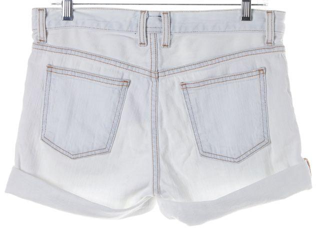 CURRENT ELLIOTT White Light Wash The Roll Denim Shorts