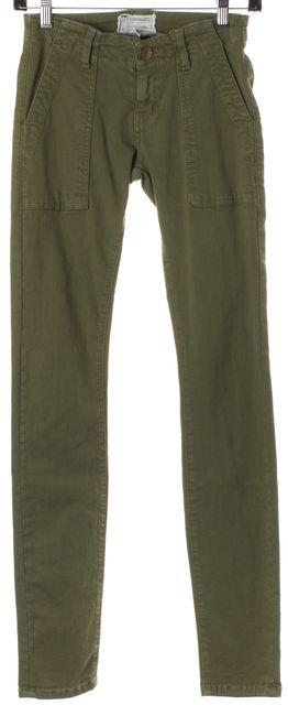 CURRENT ELLIOTT Olive Green The Combat Skinny Army Pants