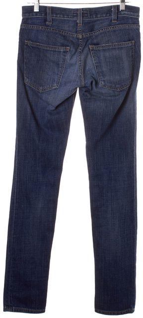 CURRENT ELLIOTT Blue Stretch Cotton Brass Stud Skinny Jeans