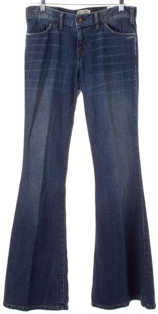 CURRENT ELLIOTT Dark Navy Blue The Elephant Bell Flare Jeans