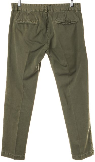 CURRENT ELLIOTT Army Green The Captain Trousers Workwear Pants