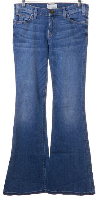 CURRENT ELLIOTT Carnival Blue Medium Wash Bell Flare Jeans