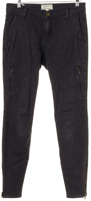 CURRENT ELLIOTT Washed Black The Flat Pocket Cargo Pants