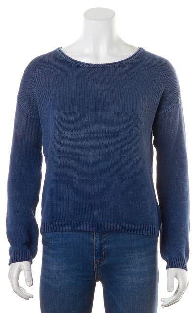 CURRENT ELLIOTT Indigo Fade Blue Cotton Loner Crewneck Sweater