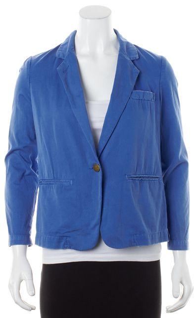 CURRENT ELLIOTT Bright Blue Cotton Single Button Blazer Jacket
