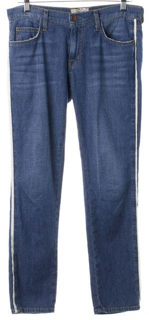CURRENT ELLIOTT Blue Davis The Fling W Piping Boyfriend Slim Fit Jeans