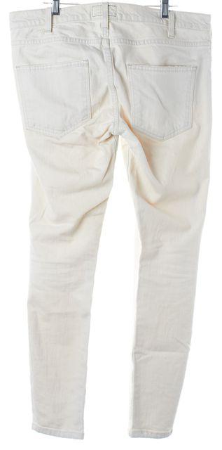 CURRENT ELLIOTT Ivory Cotton Denim Slim Fit Jeans