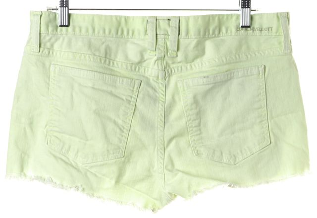 CURRENT ELLIOTT Neon Yellow The Boyfriend Cut Off Denim Shorts