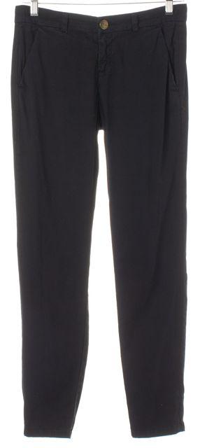 CURRENT ELLIOTT Black Stretch Cotton The Stiletto Trouser Pants