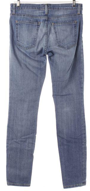 CURRENT ELLIOTT Blue Ankle Distressed Skinny Jeans