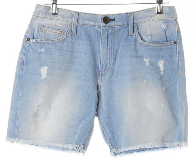 CURRENT ELLIOTT Blue Parlor Destroy Cut Off Bermuda Denim Shorts