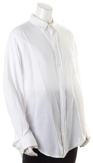 CURRENT ELLIOTT Sugar White The Prep School Button Down Shirt Blouse