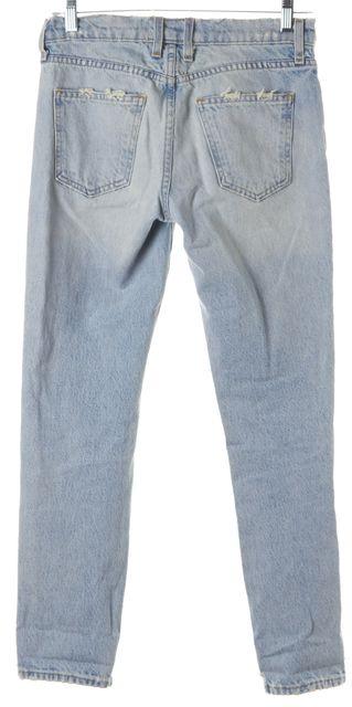 CURRENT ELLIOTT Light Blue Fling Alta Destroyed Jeans