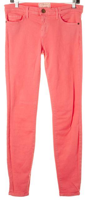 CURRENT ELLIOTT Flamingo Pink Stretch Cor Ankle Skinny Jeans