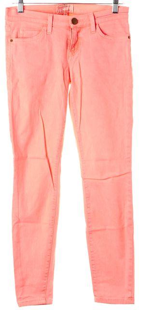 CURRENT ELLIOTT Neon Orange Stretch Cotton Stiletto Skinny Jeans