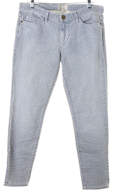 CURRENT ELLIOTT Lake Blue Checkered Stiletto Skinny Jeans