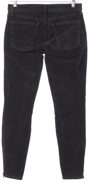 CURRENT ELLIOTT Gray Soho Zip Stiletto Corduroy Pants