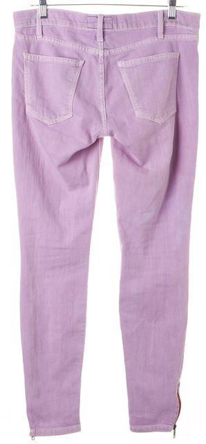 CURRENT ELLIOTT Mercury Glass Purple Ankle Slim Fit Jeans