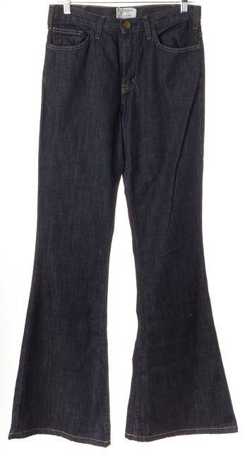 CURRENT ELLIOTT Blue Dark Wash Mid-Rise Flare Jeans