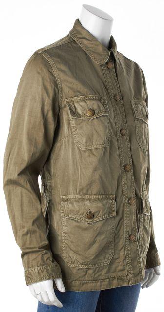 CURRENT ELLIOTT Olive Green Military Jacket