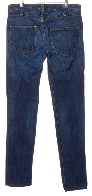 CURRENT ELLIOTT Pacific Blue Stretch Cotton Straight Leg Jeans