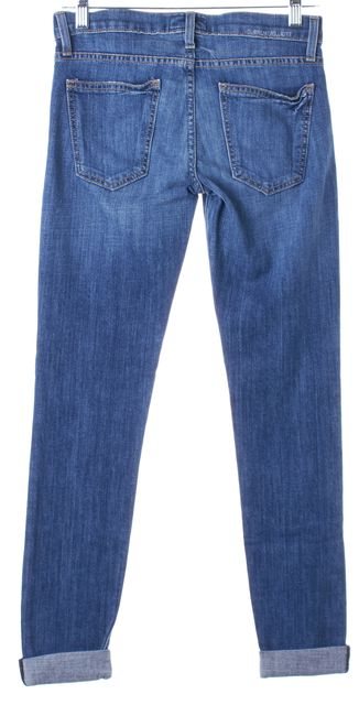 CURRENT ELLIOTT Anchor Blue Rolled Cuffed Skinny Jeans