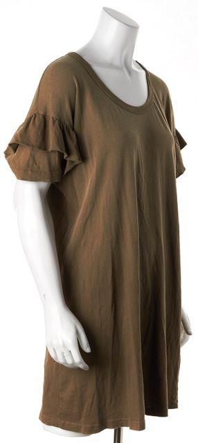 CURRENT ELLIOTT Stone Gray The Ruffle Roadie Dress