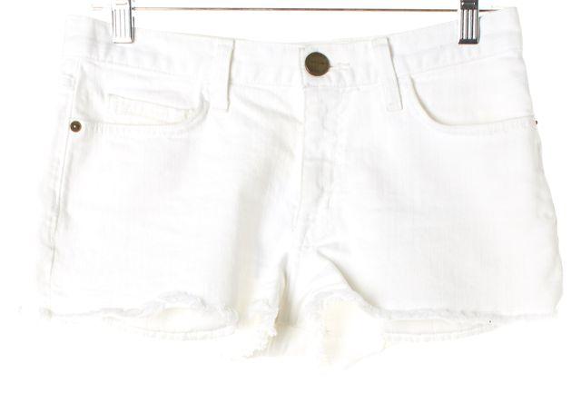 CURRENT ELLIOTT White Casual Frayed Hem Shorts