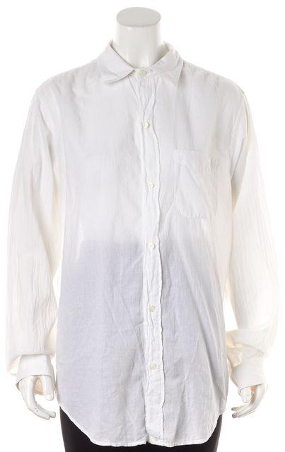 CURRENT ELLIOTT White Long Sleeve Button Down Shirt Top