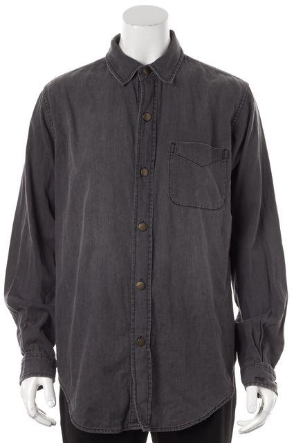 CURRENT ELLIOTT Gray Chambray Button Down Shirt