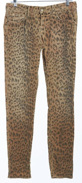 CURRENT ELLIOTT Leopard Skinny Corduroys Pants