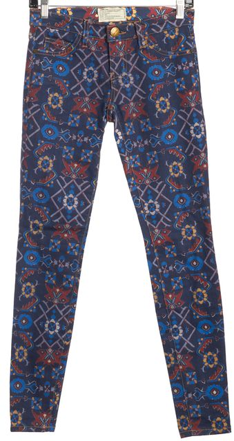 CURRENT ELLIOTT Multi-color The Ankle Skinny Classic Rise Jeans