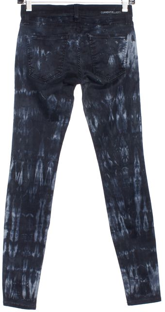 CURRENT ELLIOTT Blue Tie Dye Skinny Jeans